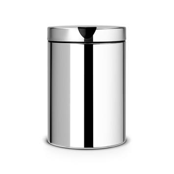 Brabantia afvalemmer 3 liter, chroom