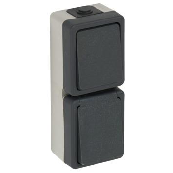 Plieger Opbouw Stopcontact/ Wisselschakelaar Spatwaterdicht