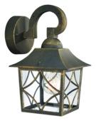 Philips Buitenlamp Cambridge hangend zwart/goud E27 60W