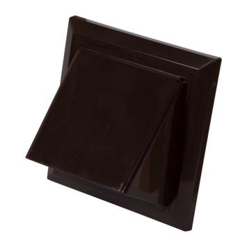 Sanivesk overdrukrooster met kap ABS bruin Ø 100-125 mm