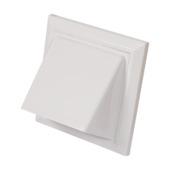 Sanivesk overdrukrooster met kap kunststof wit Ø100/125 mm