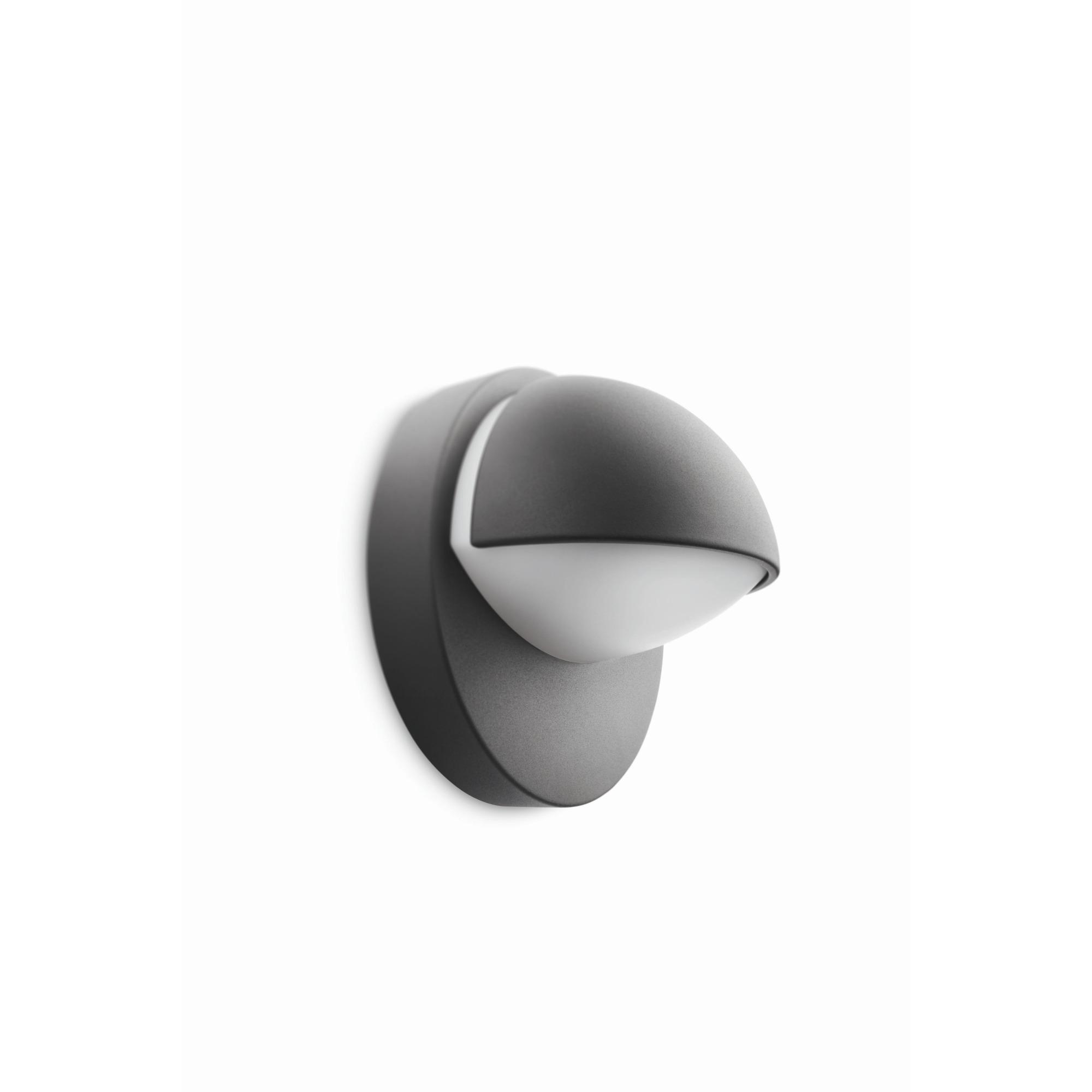 Philips mygarden june wandlamp 230 v 12 w e27 antraciet