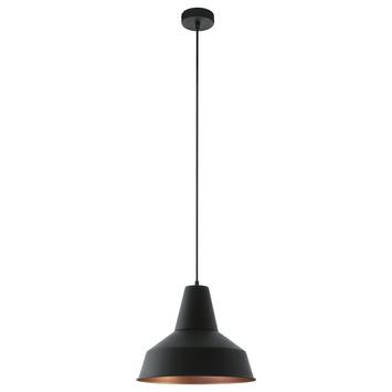 EGLO hanglamp Somerton zwart/koper
