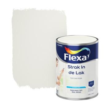 Flexa Strak in de lak voor binnen ral 9010 gebroken wit zijdeglans 1,25 liter