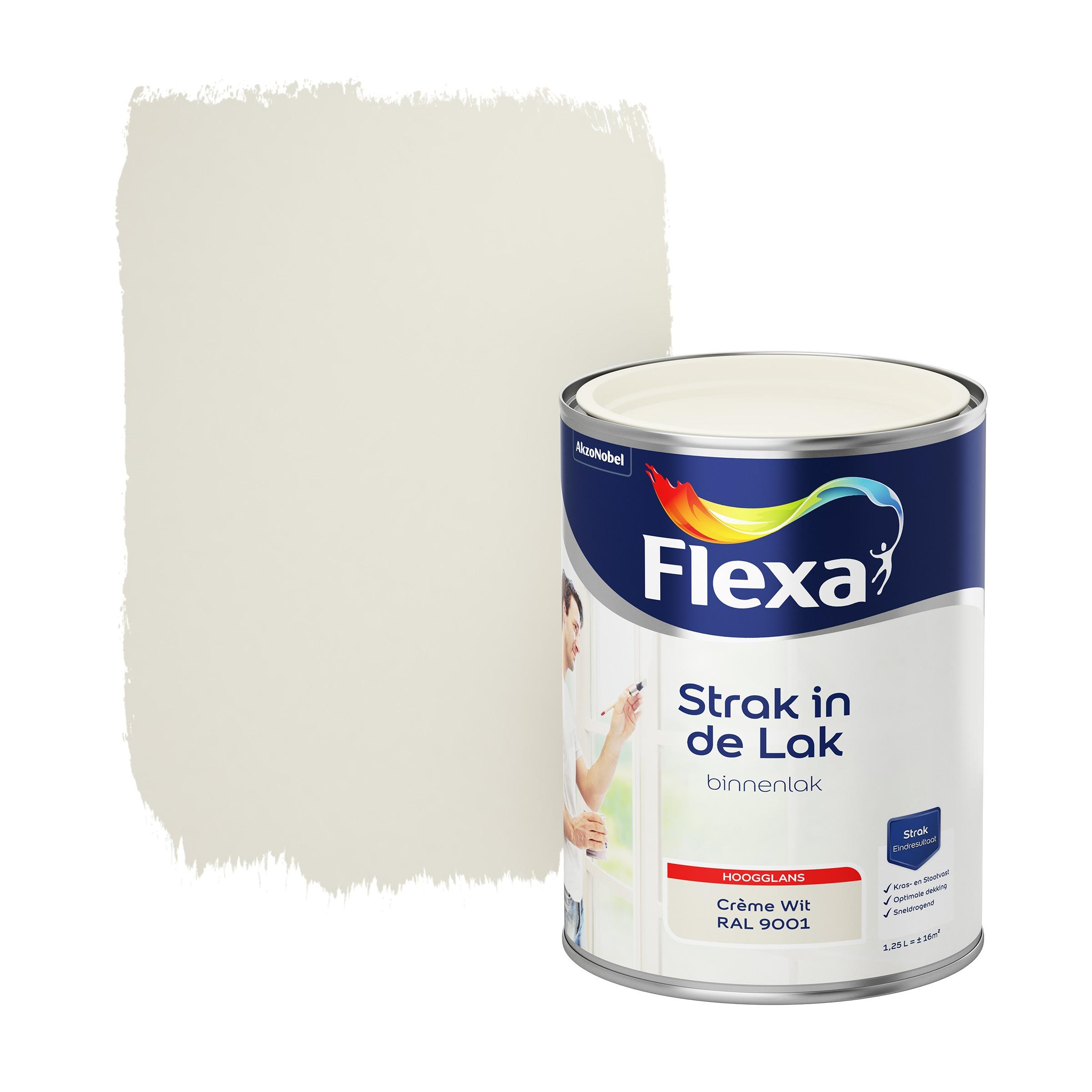 Flexa Strak In De Lak Hoogglans Crème Wit Ral 9001 1,25L