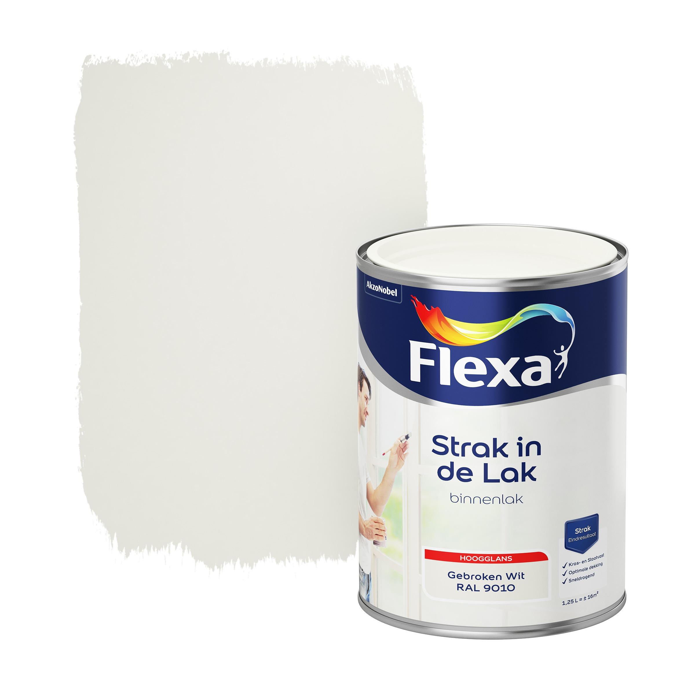 Flexa Strak In De Lak Hoogglans Gebroken Wit Ral 9010 1,25L