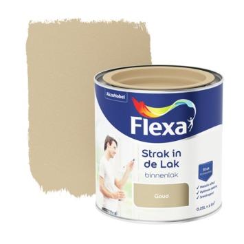 Flexa Strak in de lak voor binnen goud zijdeglans 250 ml