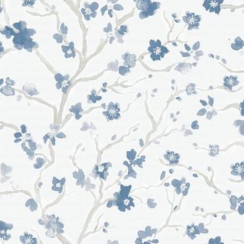 Vliesbehang Ushi blauw 106993