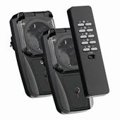 KlikAanKlikUit Schakelset  AGD2-3500R met Afstandsbediening en 2x Stopcontact schakelaar Buiten