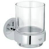 Grohe Basic glas- en wandhouder chroom