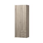 Garderobekast Ivet 2-deurs truffel