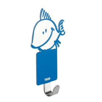 Tiger haak Kiddy Fish RVS/blauw