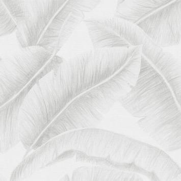 Vliesbehang Sandy wit-grijs 105751