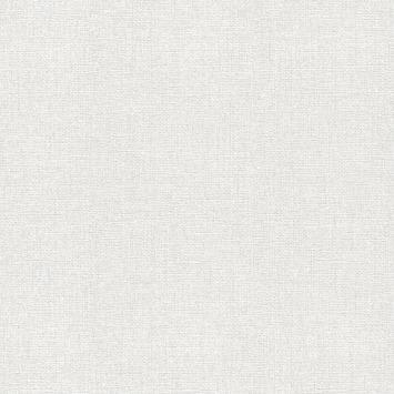 Vliesbehang Chenille wit-zilver 106750