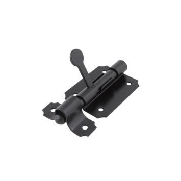 Schuifgrendel Zwart 65 mm