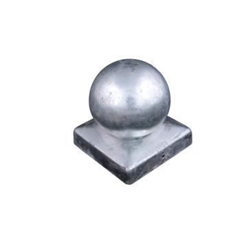Afdekkap paalbol voor Tuinpaal Verzinkt 9x9 cm