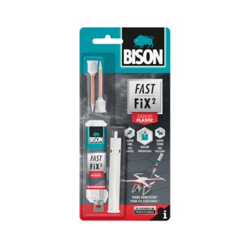 Bison fast fix² plastic secondelijm 10 gram