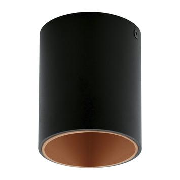 EGLO plafondlamp Polasso zwart/koper