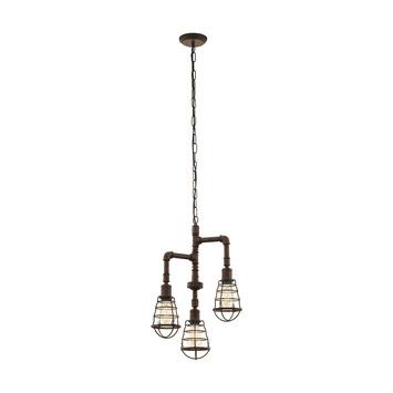 EGLO hanglamp Port Seton bruin