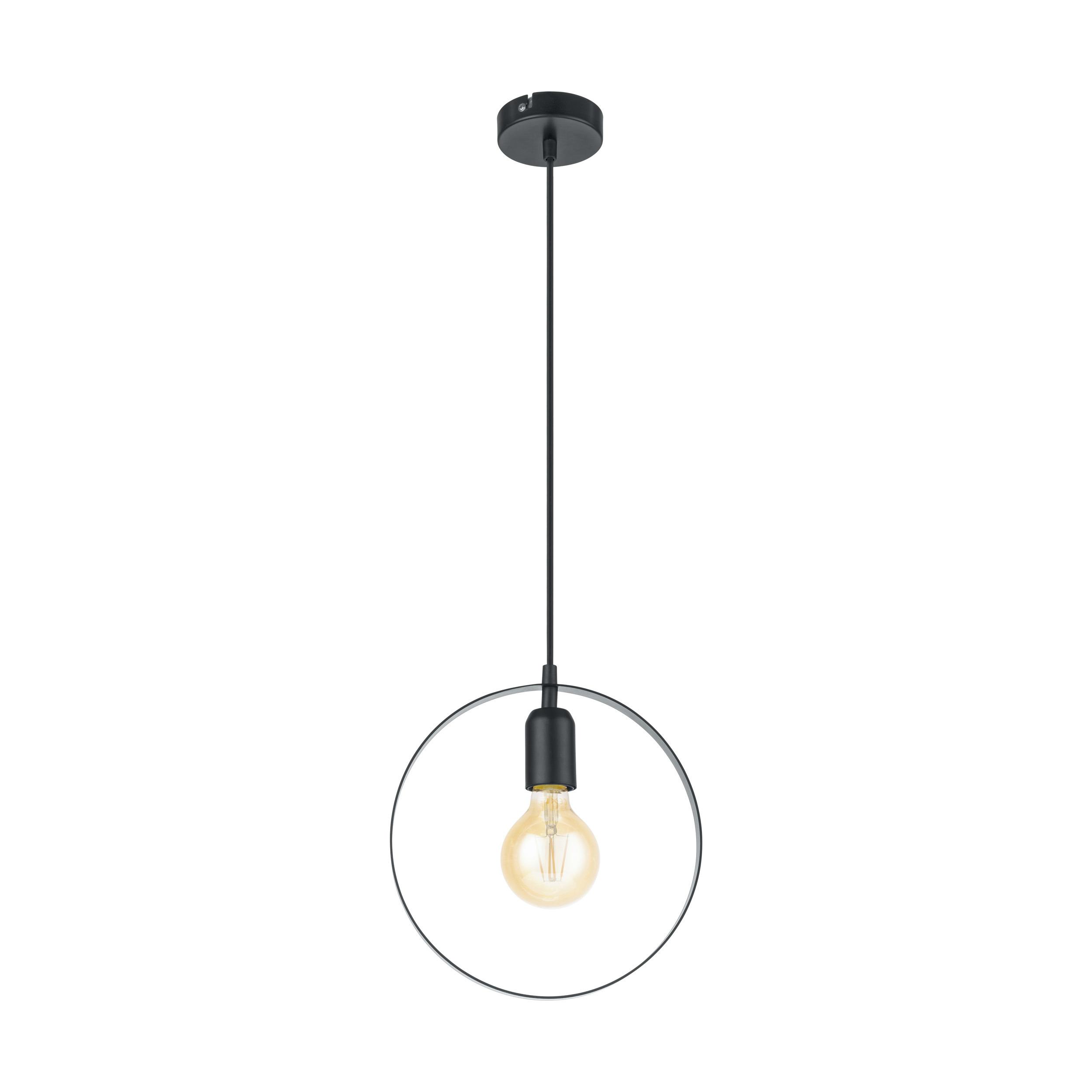 Eglo Bedington Hanglamp 1-lichts Zwart 25 cm