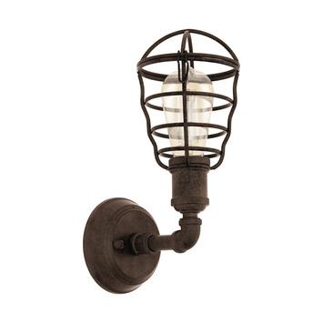 EGLO wandlamp Port Seton bruin