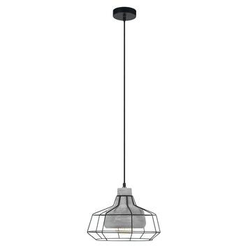 EGLO hanglamp Consett zwart/grijs
