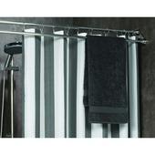 Sealskin douchegordijnstang met handdoekhouder mat aluminium 87-150 cm
