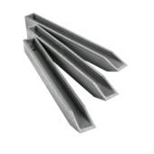 Ecopic H-profiel 38cm per 10 stuks voor ecolat afboording