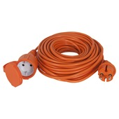 Handson verlengsnoer tuin 2x1mm2 20 meter IP44 oranje