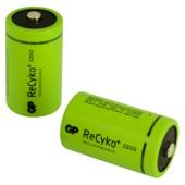 GP oplaadbare batterij D 2 stuks