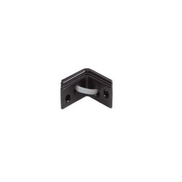 Stoelhoek Zwart 25x25 mm - 4 Stuks