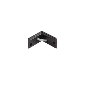 Stoelhoek Zwart 40x40 mm - 4 Stuks