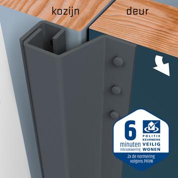 SecuStrip Plus Anti-Inbraakstrip Achterdeur RAL 7012 (Basalt Grijs) terugligging 21-27 mm 230 cm