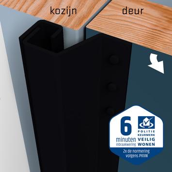 SecuStrip Plus Anti-Inbraakstrip Achterdeur RAL 9005 (Zwart) terugligging 14-20 mm 230 cm