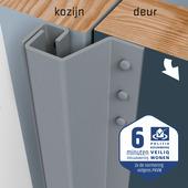 SecuStrip Plus Anti-Inbraakstrip Achterdeur RAL 7040 (Licht Grijs) terugligging 14-20 mm 230 cm