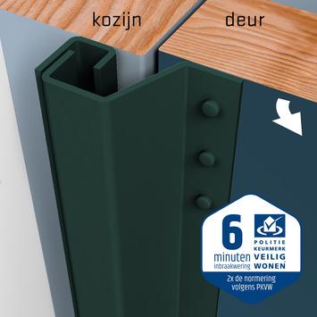 SecuStrip Plus Anti-Inbraakstrip Achterdeur RAL 6012 (Zwart Groen) terugligging 14-20 mm 230 cm