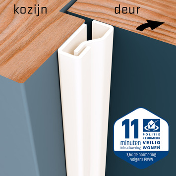 SecuStrip Plus Anti-Inbraakstrip Voordeur  RAL 9001 (Crème) 230 cm