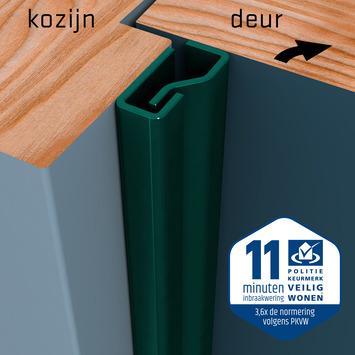SecuStrip Plus Anti-Inbraakstrip Voordeur  RAL 6012 (Zwart Groen) 230 cm