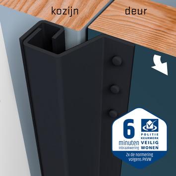 SecuStrip Plus Anti-Inbraakstrip Achterdeur RAL 7021 (Zwart Grijs) terugligging 21-27 mm 230 cm