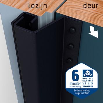 SecuStrip Plus Anti-Inbraakstrip Achterdeur RAL 7021 (Zwart Grijs) terugligging 7-13 mm 230 cm