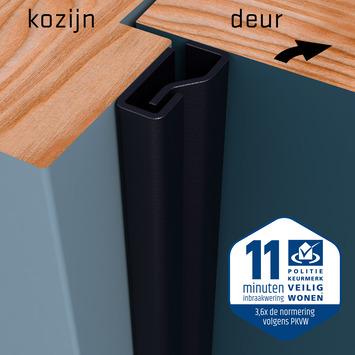 SecuStrip Plus Anti-Inbraakstrip Voordeur  RAL 7021 (Zwart Grijs) 230 cm