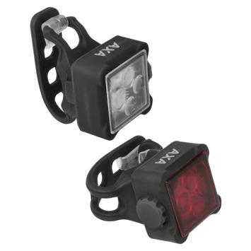 AXA Niteline voor- en achterlicht 44-R oplaadbaar