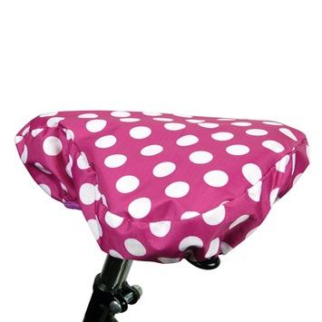 Dyto fietszadelovertrek roze/wit