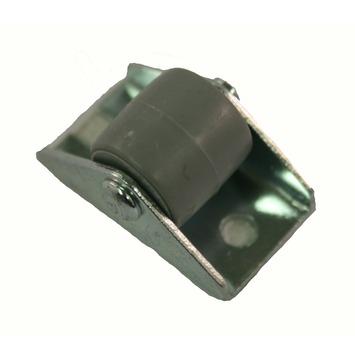 Bokwiel met plaat maximaal 20kg zwart 15mm