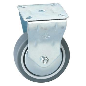 Bokwiel TPE met plaatbevestiging Ø 100 mm max. 60 kg
