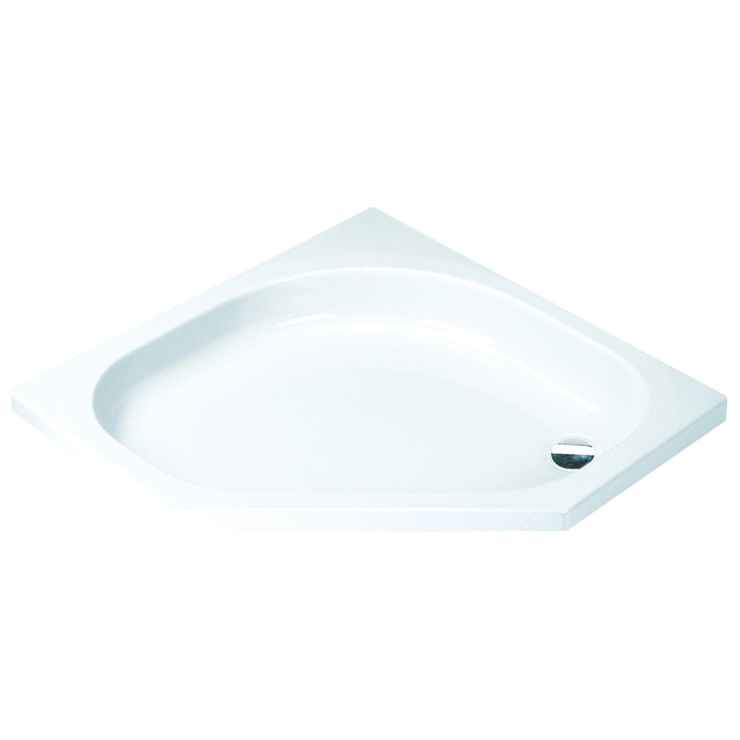 Sealskin Comfort douchebak vijfhoek 90x90 inbouw wit