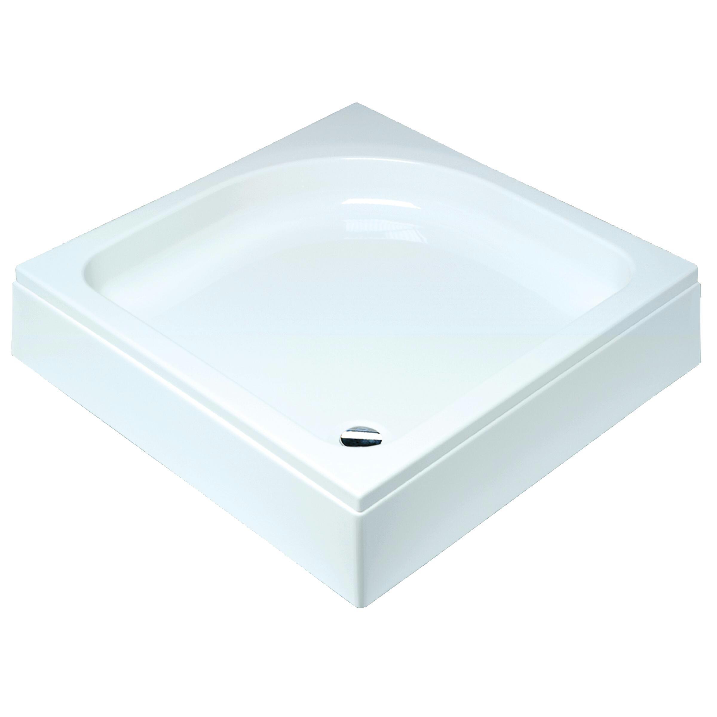 Sealskin Comfort douchebak vierkant 80x80 cm opbouw wit