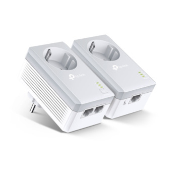 TP-Link AV600 Powerline adapter met geïntegreerd stopcontact startset TL-PA4010PKIT