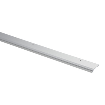 Handson slijtstrip met rubber lip aluminium 93 cm