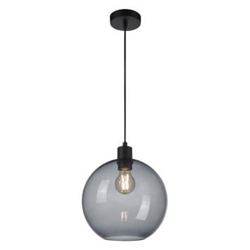Hanglamp Bram zwart rookglas